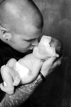 New baby girl and daddy.  www.JaimeMurrayPhotography.com