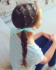 Easy toddler Braided Hairstyles In 2020 50 toddler Hairstyles to Try Out Your Little E tonight Toddler Braided Hairstyles, Toddler Braids, Easy Little Girl Hairstyles, Cute Hairstyles For Kids, Baby Girl Hairstyles, Braids For Kids, Trendy Hairstyles, Short Haircuts, Funky Haircuts