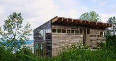 casa en Noruega- siding