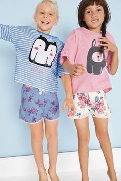 Buy Two Pack Character Floral Short Pyjamas (3-16yrs) online today at Next: Israel