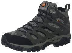 Merrell Men's Moab Peak Mid Ventilator Waterproof Hiking Boot,Black M US Best Boots For Men, Best Amazon Products, Waterproof Hiking Boots, Merrell Shoes, Cool Boots, Combat Boots, Men Boots, Western Boots, Black Boots