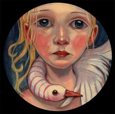 Gorgeous.  Kelly Vivanco painting: Preener