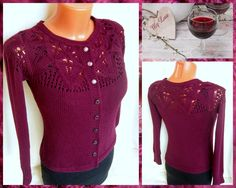 "Knitting Stories by Venera: Вязаная кофточка ""Осеннее вино"""