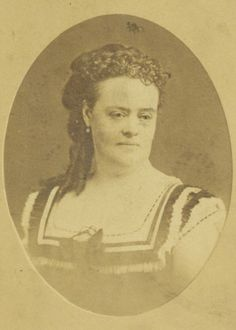 """Lucy Virginia Semple Ames, 1869. Known as the """"Queen of St. Louis society,"""" Ames was the daughter of Senator James Semple and wife of millionaire Edgar Ames. A businesswoman, suffragette, advocate for women's education and feminist, Ames took over management of her husband's business interests after he left her a widow and single mother at age 30. She also created & was president of the Ames Realty Company. She became a member of the Equal Suffrage Society in 1869. Missouri History Museum"""