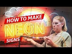 On this episode of How to Make It, chef Katie Pickens is learning to bend glass into neon signs at Brooklyn Glass. Eater is the one-stop-shop for food. Wooden Name Signs, Barn Wood Signs, Diy Wood Signs, Diy Chalkboard Paint, Chalkboard Signs, The Sorry Girls, Dollar Tree Wedding, Twix Bar, Paint Bar