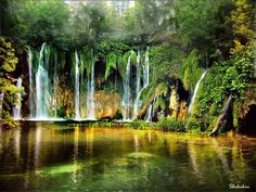 Waterfalls of Plitvice Lakes, Croatia....this is stunning!