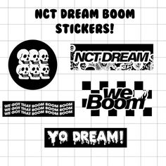 Pop Stickers, Tumblr Stickers, Printable Stickers, Nct Logo, Dream Logo, Kpop Diy, Journal Stickers, Diy Phone Case, Aesthetic Stickers