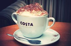 Costa hot chocolate with whipped cream :) I love Costa coffee! My Favorite Food, Favorite Recipes, Coffee Time, Coffee Coffee, Coffee Shop, Costa Coffee, Hot Chocolate, Chocolate Marshmallows, Yummy Food