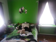 Panda themed bedroom