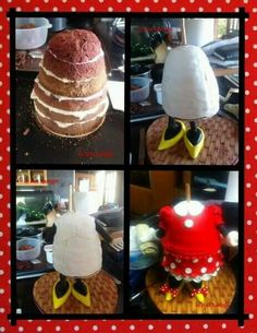 3D Minnie Mouse Structure Support Cake Pic Tutorial
