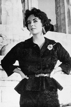 Elizabeth Taylor on the Acropolis of Athens in the Fifties