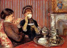 MarY Cassatt, Il tè delle cinque, 1880