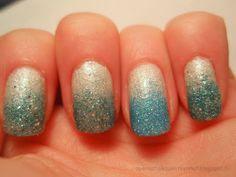 OPI Solitaire, IsaDora Ocean Crush & IsaDora Turquoise Crush