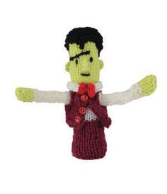Micky Monster Finger Puppet Free Toy Knitting Pattern Halloween Knitting Patterns, Knitting Patterns Free, Free Knitting, Free Pattern, Knitting Ideas, Finger Puppet Patterns, Magazine Crafts, Knitting Magazine, Knitted Animals