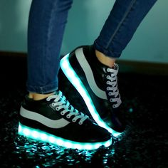 Led shoes for adults 2016 fashion led light shoes woman canvas shoes women casual shoes led luminous man Light Up Shoes, Lit Shoes, Red Colour Shoes, Red Color, Shoes 2016, Air Max Sneakers, Casual Shoes, Men Casual, Black Shoes