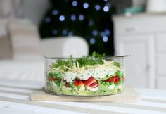 Beach Cottage Too Easy Recipe ~ Christmas Layered Salad Coastal Vintage Shop, Beachy & Coastal Decorating Aussie Christmas, Australian Christmas, Christmas Lunch, Christmas Cooking, Summer Christmas, Christmas Ideas, Christmas 2017, Christmas Recipes, Holiday Recipes