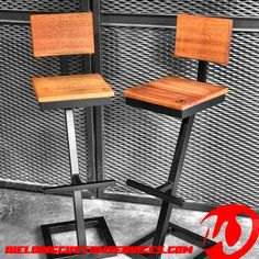 Welded Furniture, Industrial Design Furniture, Industrial Chair, Bar Furniture, Furniture Design, Wood Bar Stools, Modern Bar Stools, Bar Chairs, Steel Table Legs
