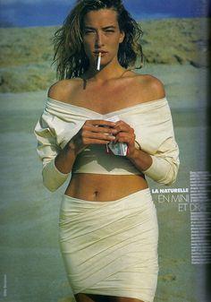Tatjana Patitz | Photography by Gilles Bensimon | For Elle Magazine France | March 1989