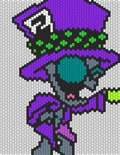 Mad Hatter Gir bead pattern This has Lucile written all over it!