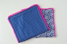 Pom Pom Burp Cloths