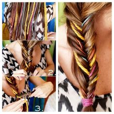 Fishtail Hair Braid   32 Awesome No-Knit DIY YarnProjects