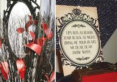 {Evil Queen} Snow White Party Theme // Hostess with the Mostess® Grimm, Evil Queen Quotes, Sweet 16, Villains Party, Disney Villains, Disney Evil Queen, Disney Magic, Snow White Wedding, Snow White Evil Queen