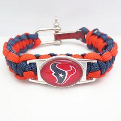 NFL Houston Texans Football Team Paracord Bracelet