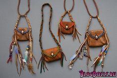 кожаная сумка через плечо для куклы 8