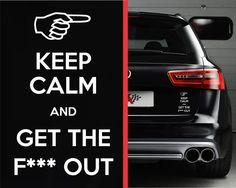 KEEP CALM Funny Sticker, Vinyl Decal KCCO, Car, SUV, Truck, JDM, Honda, Ford