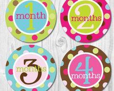 Monthly Baby Stickers Milestone Girl Elephant Baby Stickers   Etsy Baby Month Stickers, Monthly Baby, Elephant Baby, Just Amazing, Baby Month By Month, Chevron, Infant, Fun, Etsy