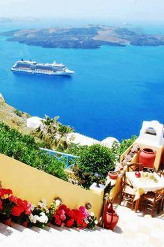 View from Firostefani, Santorini