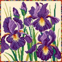 LJT094 Irises   Lesley Teare Needlework and Cross Stitch Chart Designs