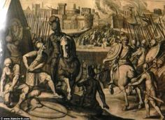 La septième guerre d'Italie, ou guerre de la ligue de Cognac (1526 à 1529): le sac de Rome par les soldats de Charles Quint, par Cornelius Boel, 1614, Berlin.