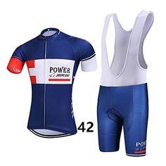 4dbb5da1a Amazon.com   Men s Road Bike Clothing Short Sleeve Cycling Jerseys 3D  Padded Bib Shorts Set Quick-Dry   Sports   Outdoors