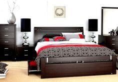 Black Bedroom Design, Room Design Bedroom, Small Room Bedroom, Bedroom Sets, Bedroom Decor, Wood Bed Design, Bed Frame Design, Dining Room Furniture Design, Bed Furniture