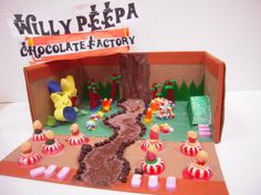 charlie and the chocolate factory diorama | kid created peeps dioramas the willa wonka diorama was created
