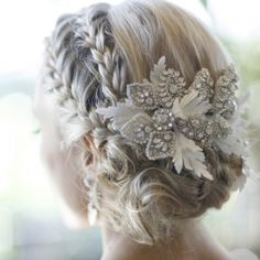 Love the hair and the flowers!