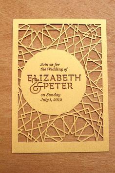 paper cut invitation