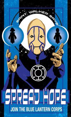 Blue Lantern Corps Poster by Heartattackjack.deviantart.com on @deviantART