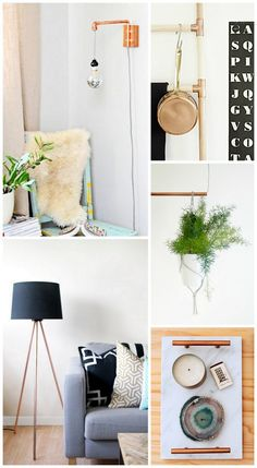 DIY 10 copper home decor projects. From lamps to trays! - sugarandcloth.com