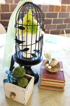 I have a similar birdcage from our wedding. I better go find it!
