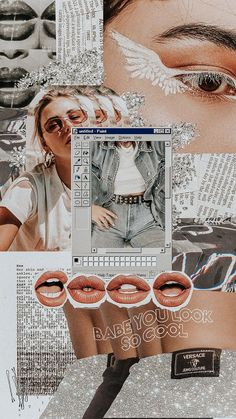 iphone wallpaper collage babe, you look so cool - Wallpaper Collage, Collage Background, Iphone Background Wallpaper, Retro Wallpaper, Aesthetic Pastel Wallpaper, Locked Wallpaper, Tumblr Wallpaper, Aesthetic Backgrounds, Wall Collage