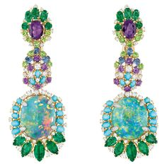 Dior 'Bouquet d'Opales' Earrings of the 'Dear Dior' Collection