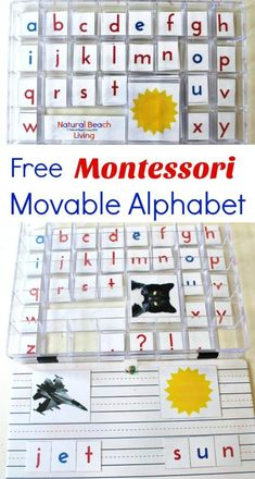 DIY Montessori Movable Alphabet (Free Printables DIY Montessori Movable Alphabet (Free Printables) The post DIY Montessori Movable Alphabet (Free Printables appeared first on Toddlers ideas. Kindergarten Montessori, Montessori Homeschool, Montessori Classroom, Montessori Toddler, Montessori Activities, Alphabet Activities, Toddler Activities, Homeschooling, Montessori Elementary