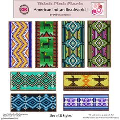 native american beading patterns | North American Indian Beadwork Patterns by Pamela Stanley-millner