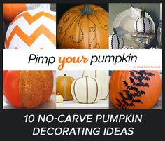 10 Simple No Carve Pumpkin Decorating Ideas #pumpkins #halloween #decorating