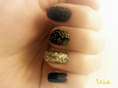 Black & Gold/New Year's Eve nails