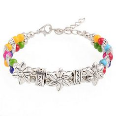 cool Hot Fashion Tibetan Silver Jewelry Beads Bangle Turquoise Chain Bracelets - For Sale View more at http://shipperscentral.com/wp/product/hot-fashion-tibetan-silver-jewelry-beads-bangle-turquoise-chain-bracelets-for-sale-2/