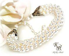 Pearl Bridal Bracelet Bridal Jewelry Wedding Jewelry Pearl
