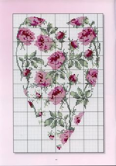 ru / Photo # 154 - Where we can still apply the embroidery - anethka Cross Stitch Pictures, Cross Stitch Needles, Cross Stitch Heart, Cross Stitch Flowers, Embroidery Hearts, Cross Stitch Embroidery, Embroidery Patterns, Hand Embroidery, Cross Stitch Designs